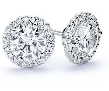 Halo Diamond Earring Setting In White Gold Earrings Your Diamonds Stock 8138