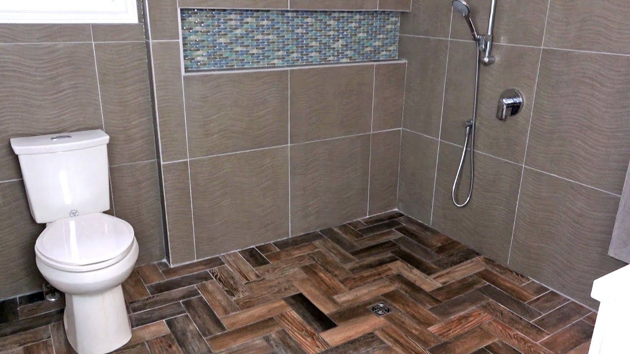 Make Your Entire Bathroom A Giant Shower In 2020 Bathroom Tile Diy Diy Bathroom Makeover Diy Bathroom Storage