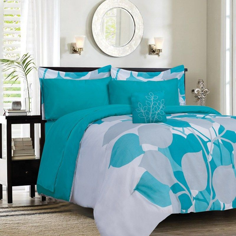 Turquoise Full Size Bedding Turquoise Comforter Set With Images