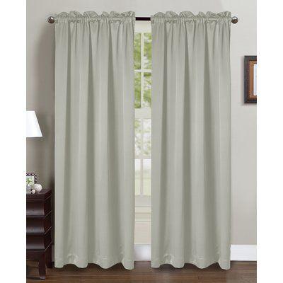 Glory Home Design Beth Rod Pocket Curtain Panels Color