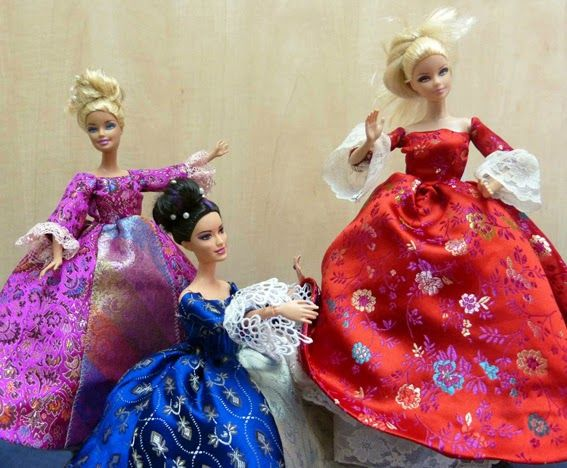Free courtesan gown pattern (Google docs) for Barbie | 1:6 Sewing ...