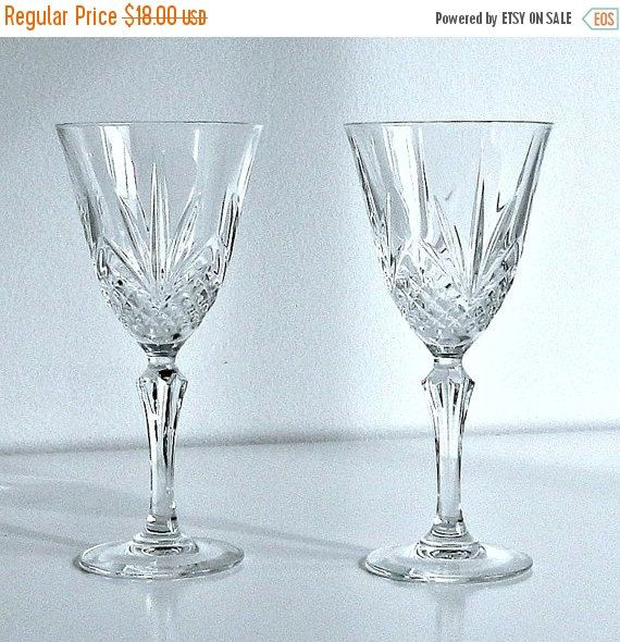Amazing Wine Glasses For Sale Part - 11: ON SALE Vintage Crystal Wine Glasses Durant By Retrogroovie