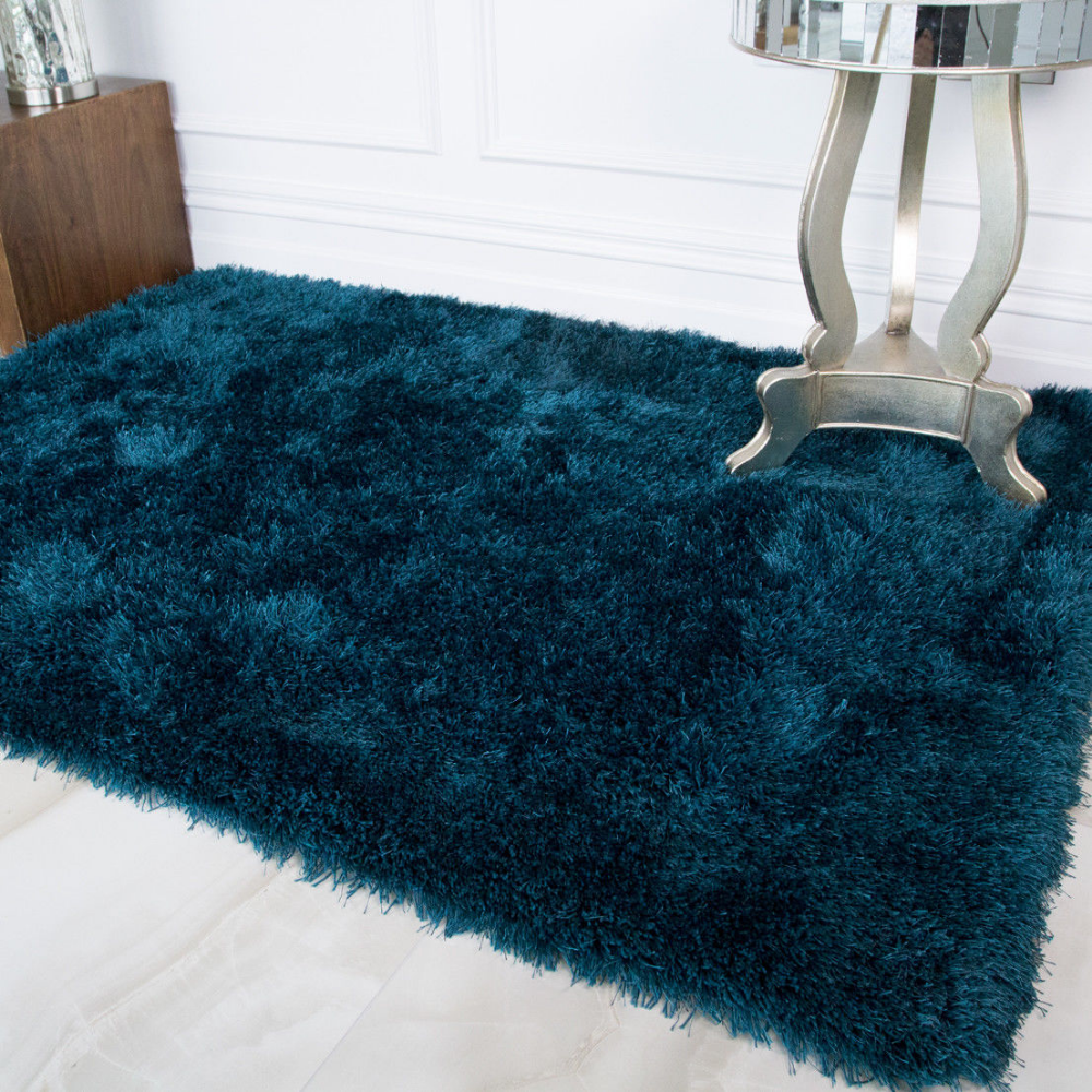 Soft Thick Fluffy Teal Turquoise Shaggy Rug Bedroom Living Room Large Rugs Bedroom Fluffy Area Room Rugs Teal Rug Bedroom Bedroom Rug