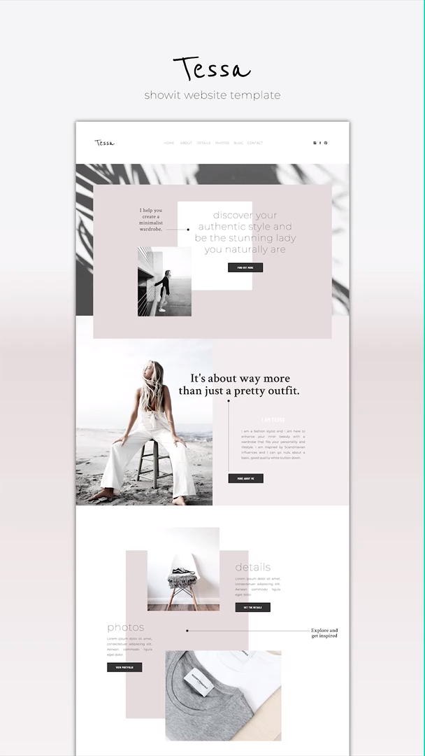 Showit Website Template Tessa