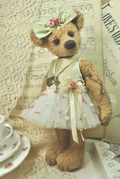 Margot Ballerina Artist Bear Pattern $16.99 | Teddy bears | Pinterest