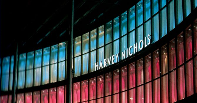 harvey nichols riyadh facade by elektra lighting façade