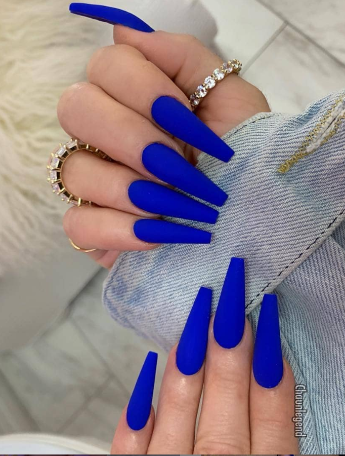 50 Best Acrylic Coffin Nails Design Ideas For Summer Nails Makeup Blue Acrylic Nails Vibrant Nails Blue Coffin Nails