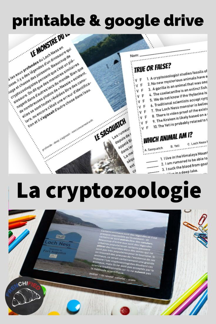La cryptozoology reading for intermediate French