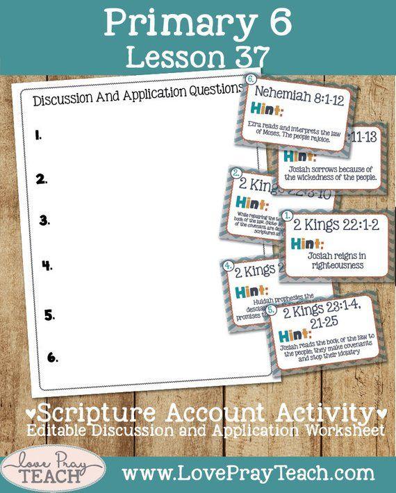 "Latter-day Saints Primary 6 Lesson 37: ""Josiah And Ezra"