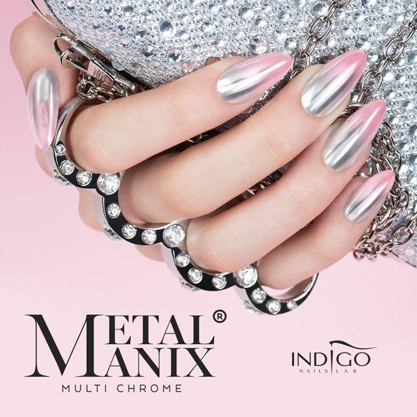 Metal Manix Multi Chrome Indigo Nails Metallic Nails Chrome Nails