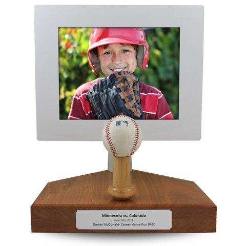 Baseball Softball Trophydisplay Which Includes A Digital Frame