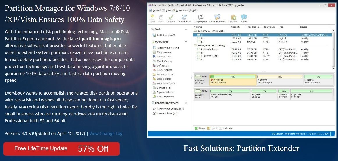 57 Off - Macrorit® Disk Partition Expert Pro Edition Discount