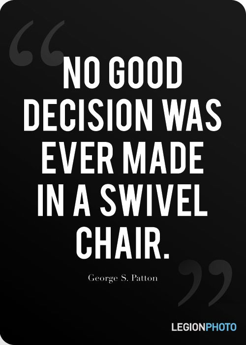 Quote by George S Patton but this is right on about