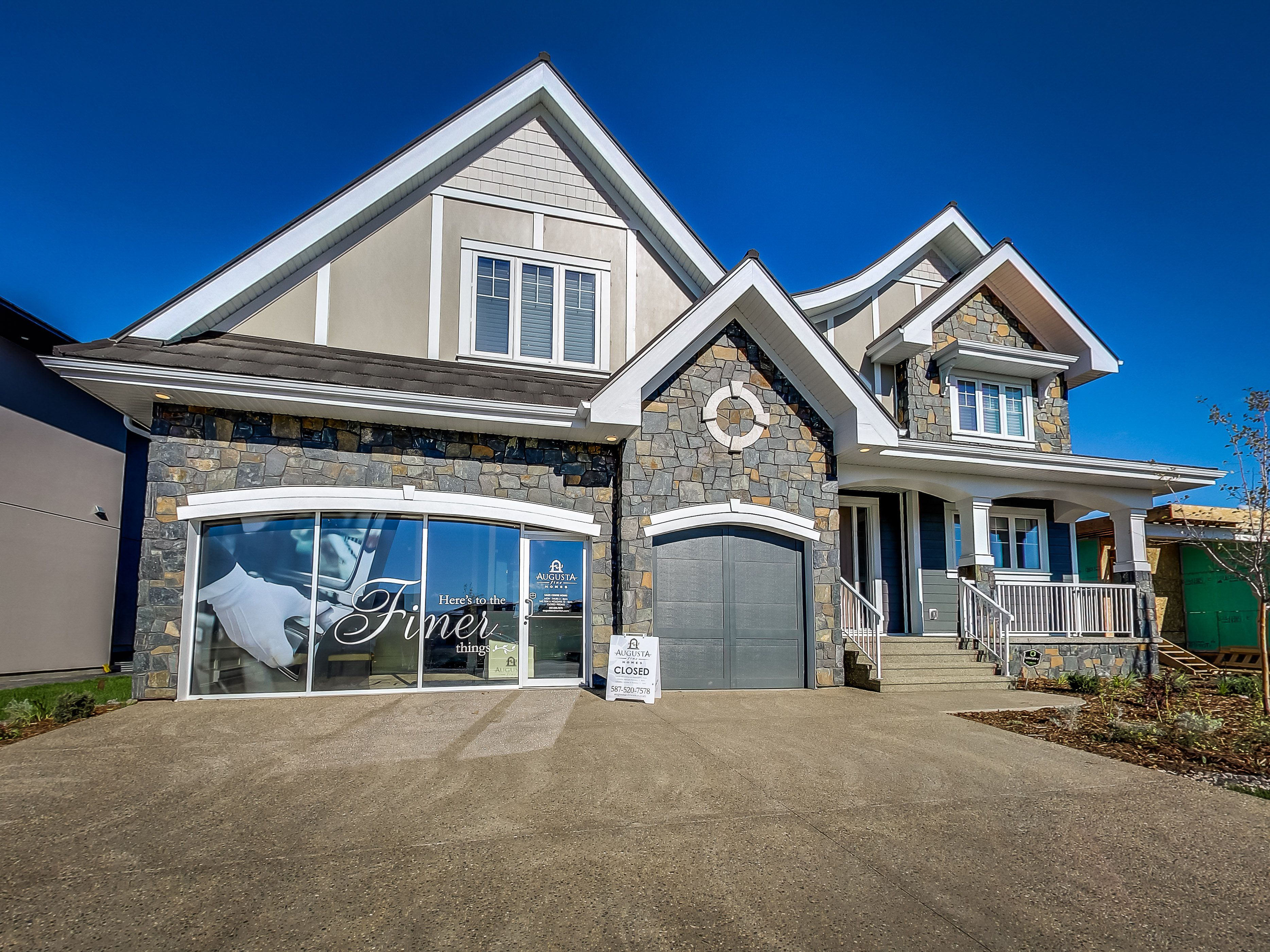 French Country Architecture Manhattan Show Home Exterior Elevation In Westpointe Of Windermere C Augusta Fine Custom Home Builders Custom Homes Home Builders