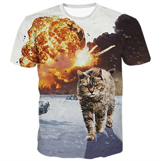 BFUSTYLE Herren T-Shirt Kurzarmshirt Top Unisex Casual 3D Muster ...