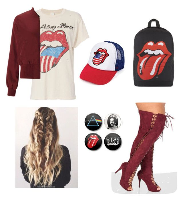 """""""Rolling Stones 👄👅"""" by ribz ❤ liked on Polyvore featuring Ashley Stewart, MadeWorn and Miss Selfridge"""
