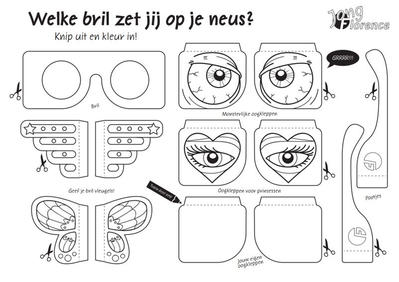 materialen print de brillen op  oog ogen brillen