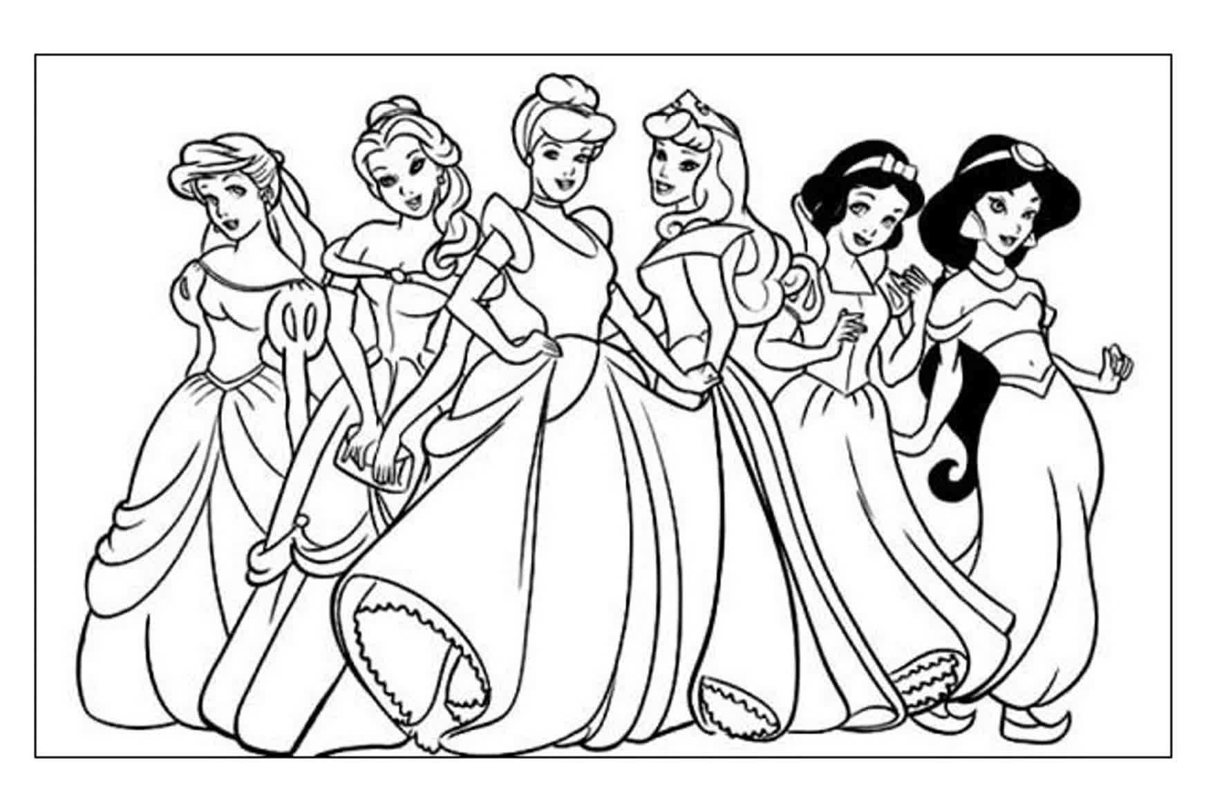 Walt Disney Da Colorare.Disegni Da Colorare Walt Disney Principesse Fresco Disegni Da