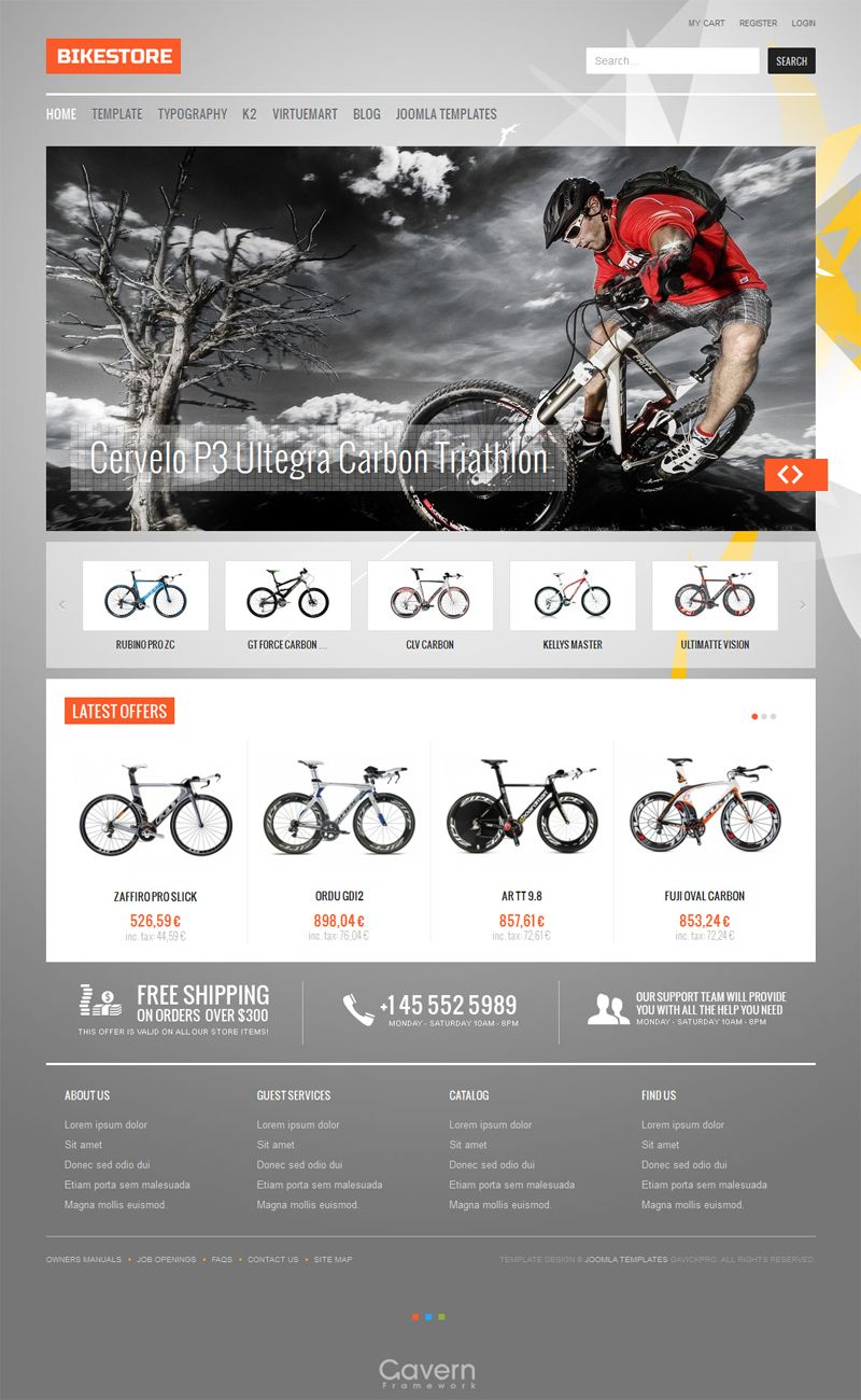 Check latest responsive eCommerce Joomla template from GavickPro ...
