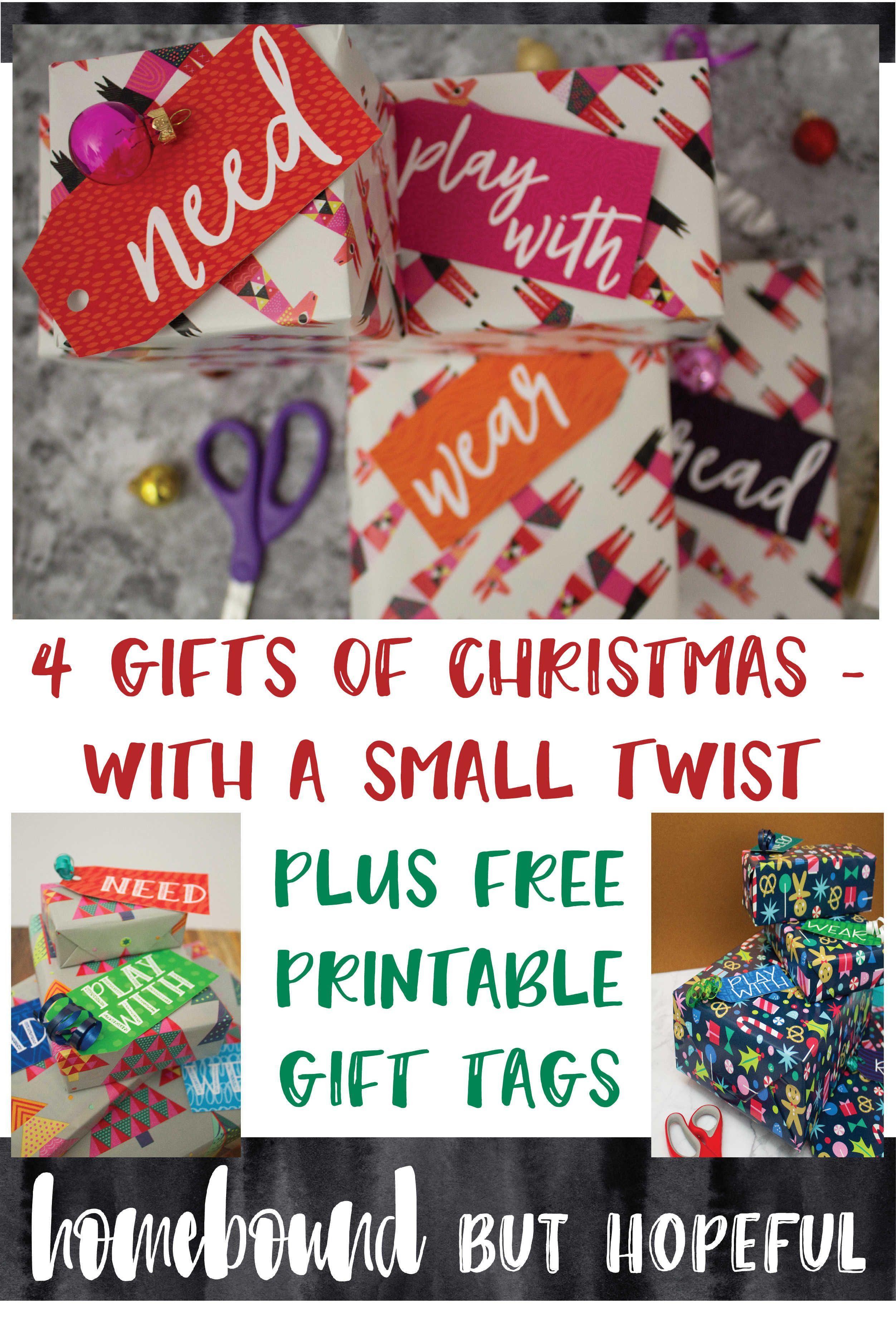 Our Four Gifts Of Christmas + Free Printable Tags | Free printable ...