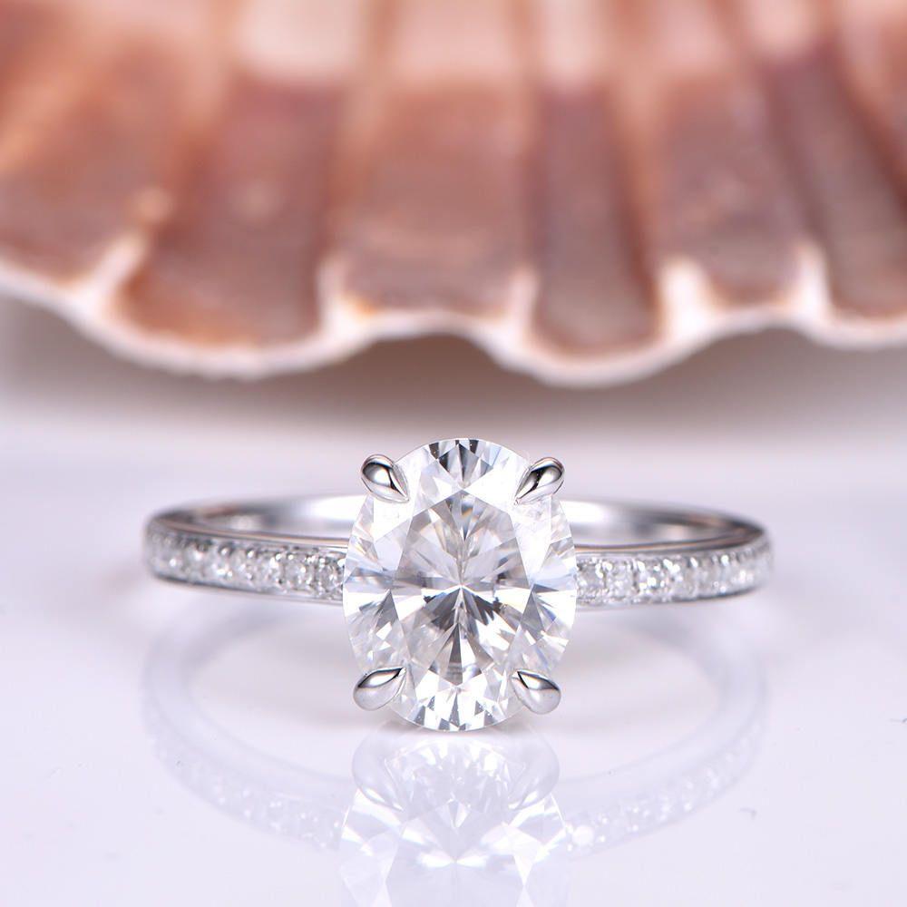 Moissanite engagement ring xmm oval cut charles u colvard