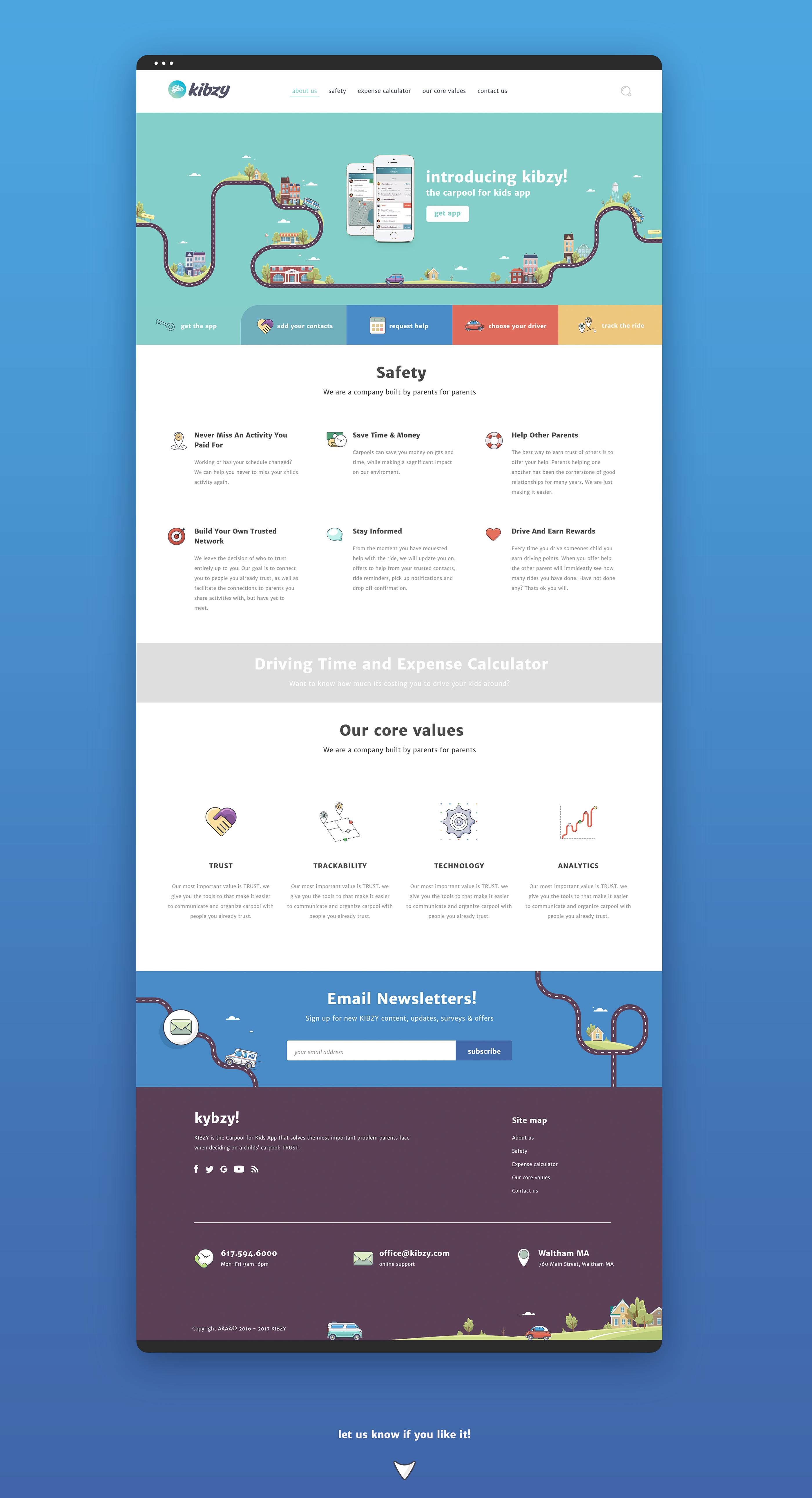 Carpooling App Kibzy On Behance Web Design App Design School