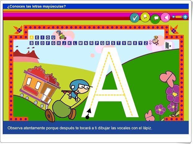 Conoces Las Letras Mayúsculas Aplicación Interactiva De Lectoescritura Juegos Interactivos Para Niños Actividades Interactivas Lectoescritura