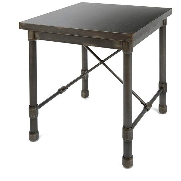 Marvelous Hugo Industrial Accent Table ($280) ❤ Liked On Polyvore Featuring Home,  Furniture,