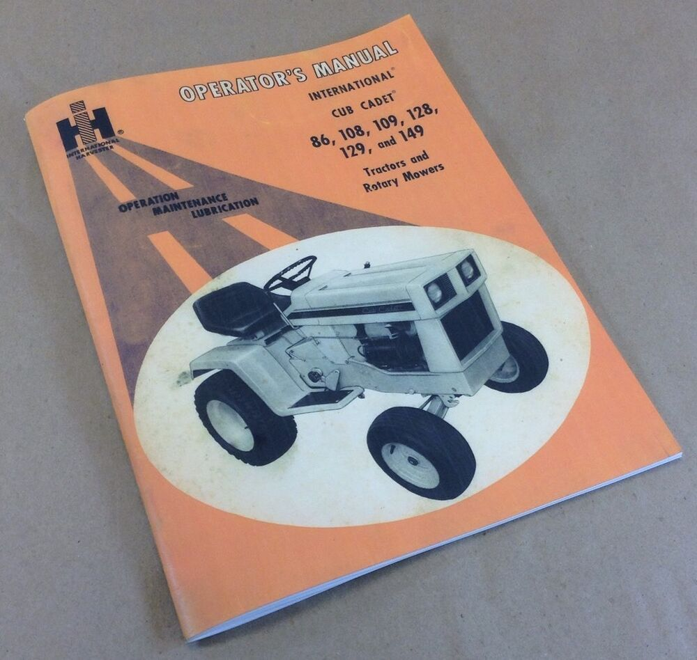 hight resolution of international cub cadet tractor model 149 owner operators manual lawn mower