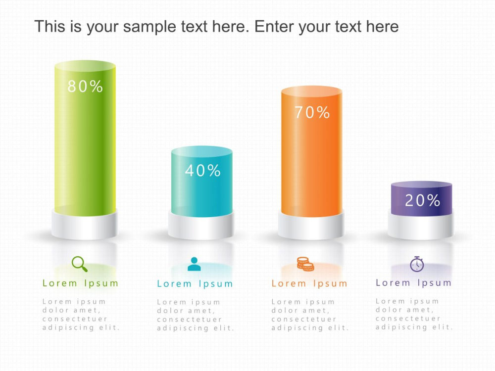 3d Cylinder Bar Graph Powerpoint Powerpoint Bar Graphs Powerpoint Templates