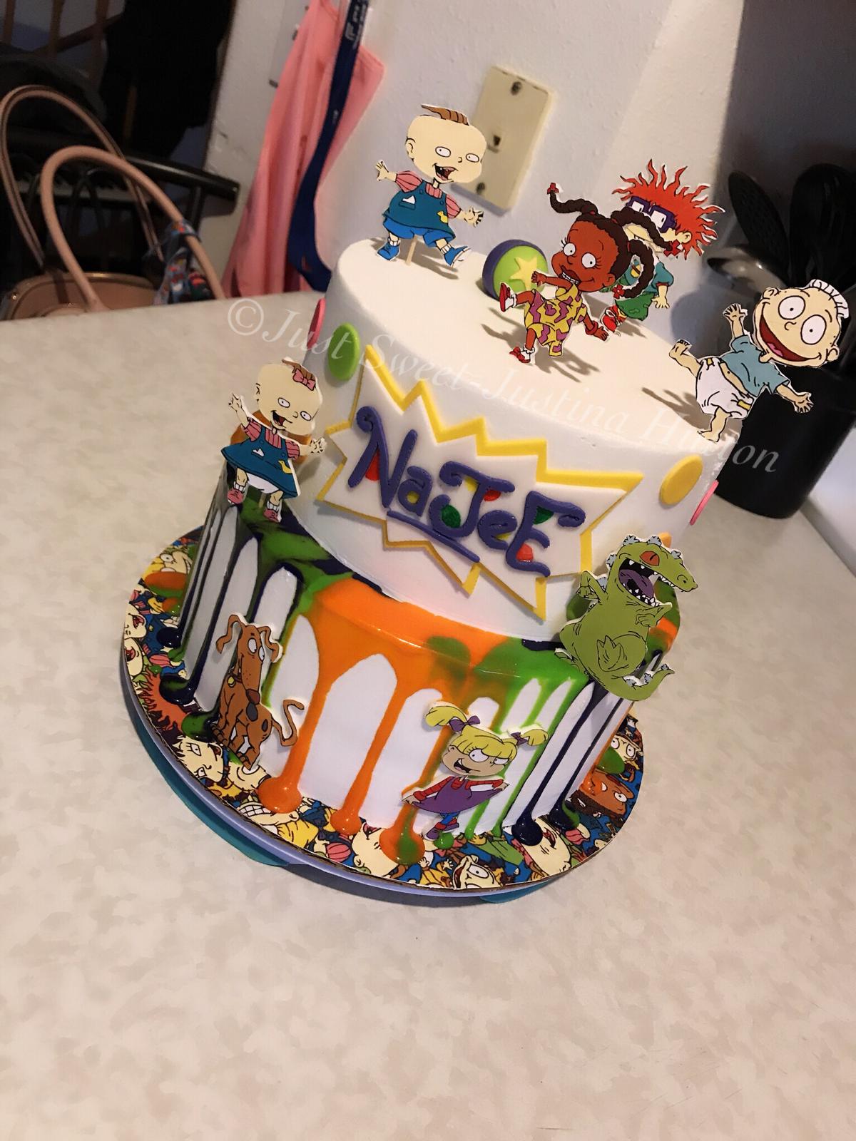Brilliant Rugrats Cake 90Sbaby 90S Cartoon Classic Drip Justsweet Funny Birthday Cards Online Necthendildamsfinfo
