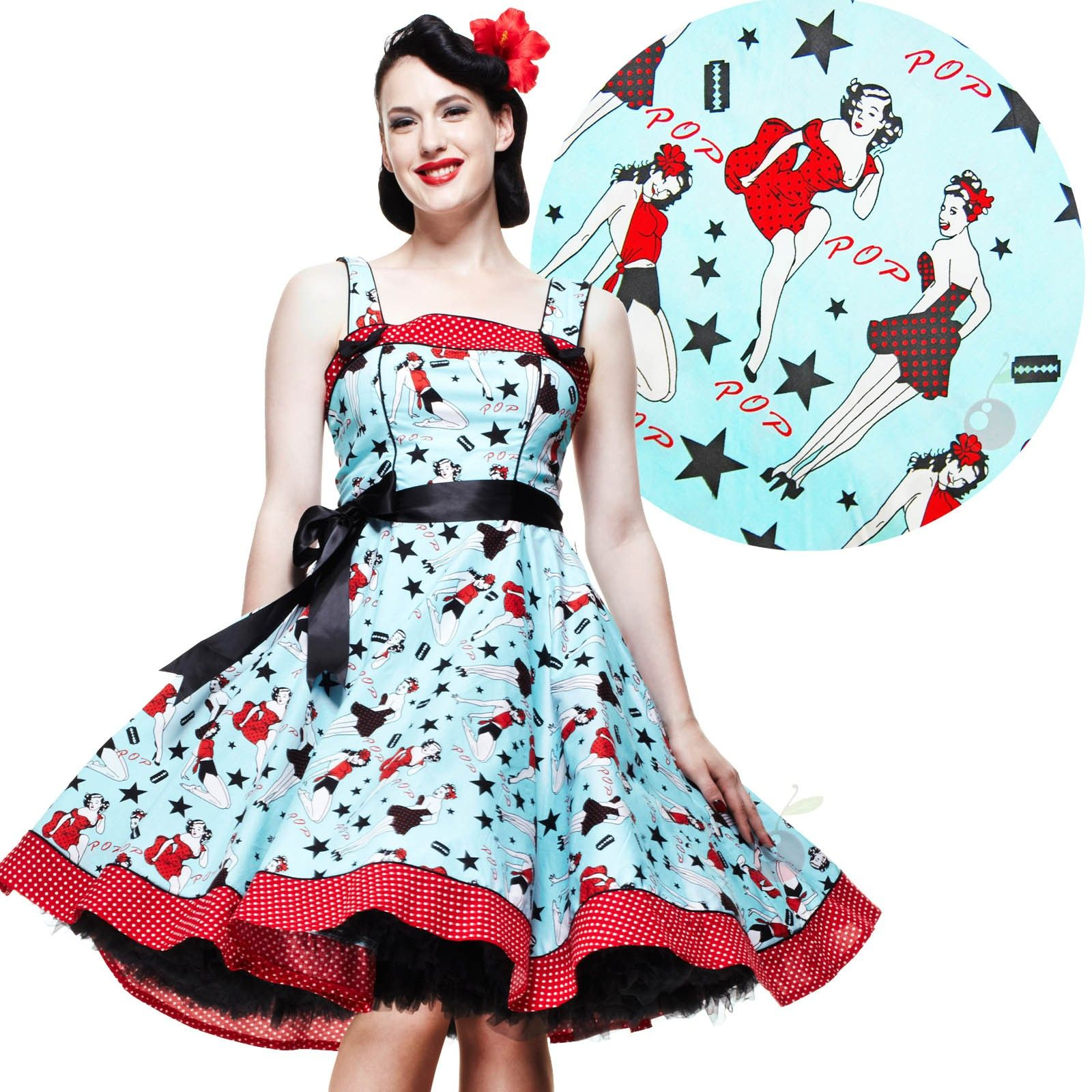 70a8f2a725 Atomic Cherry - Hell Bunny Dixie 50 s Pin Up Dress
