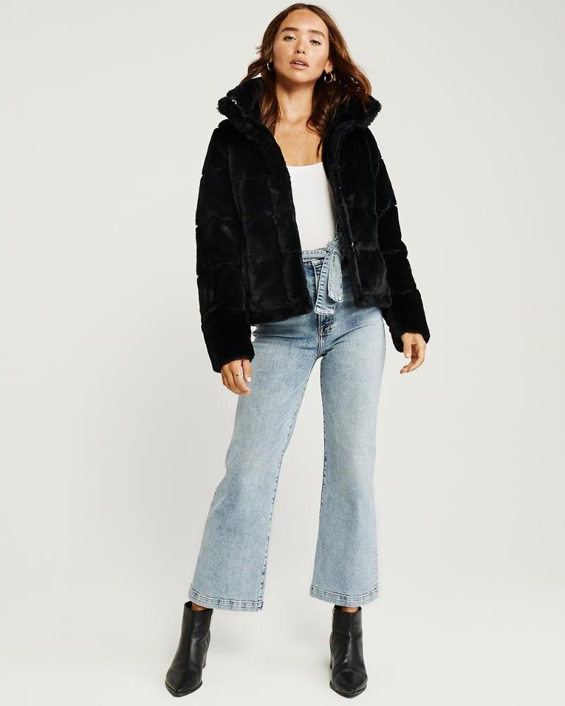 Womens Mini Faux Fur Puffer Jacket Womens Abercrombie Com Faux Fur Puffer Jacket Women S Coats Jackets Jackets