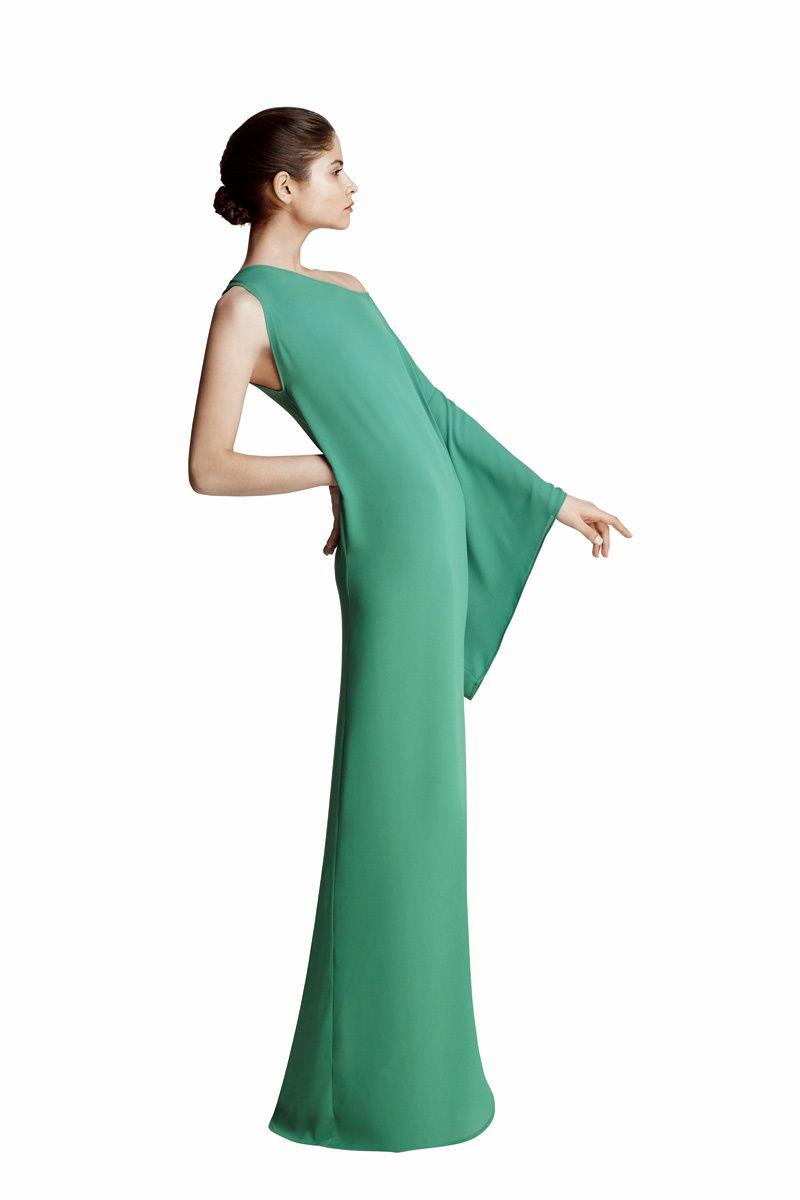 Vestido verde botella el corte ingles