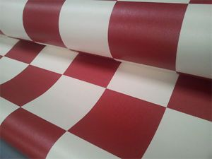 Details about funky checker vinyl flooring red blue grey for Checkered vinyl flooring