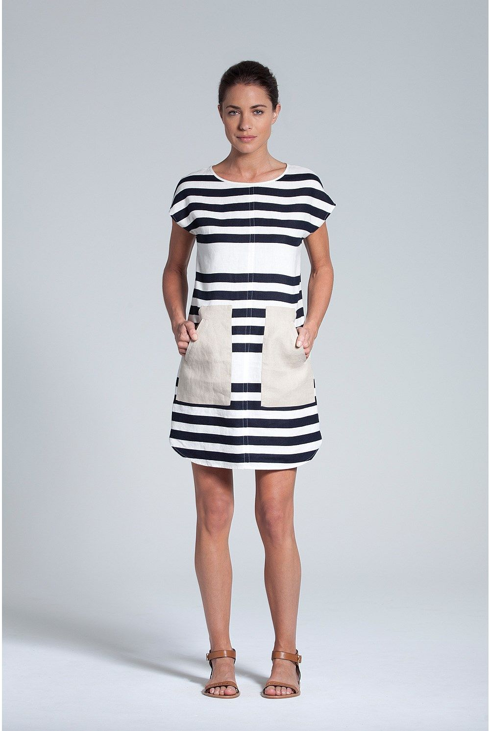 Trenery - Women's Dresses Online - Placed Stripe Dress | Fashion ...