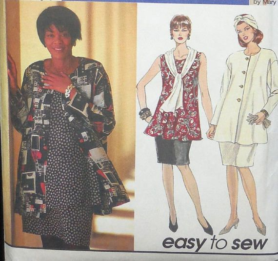 Simplicity 9121 - Curvy Easy Sew Outfits - Jacket, Top, Skirt ...