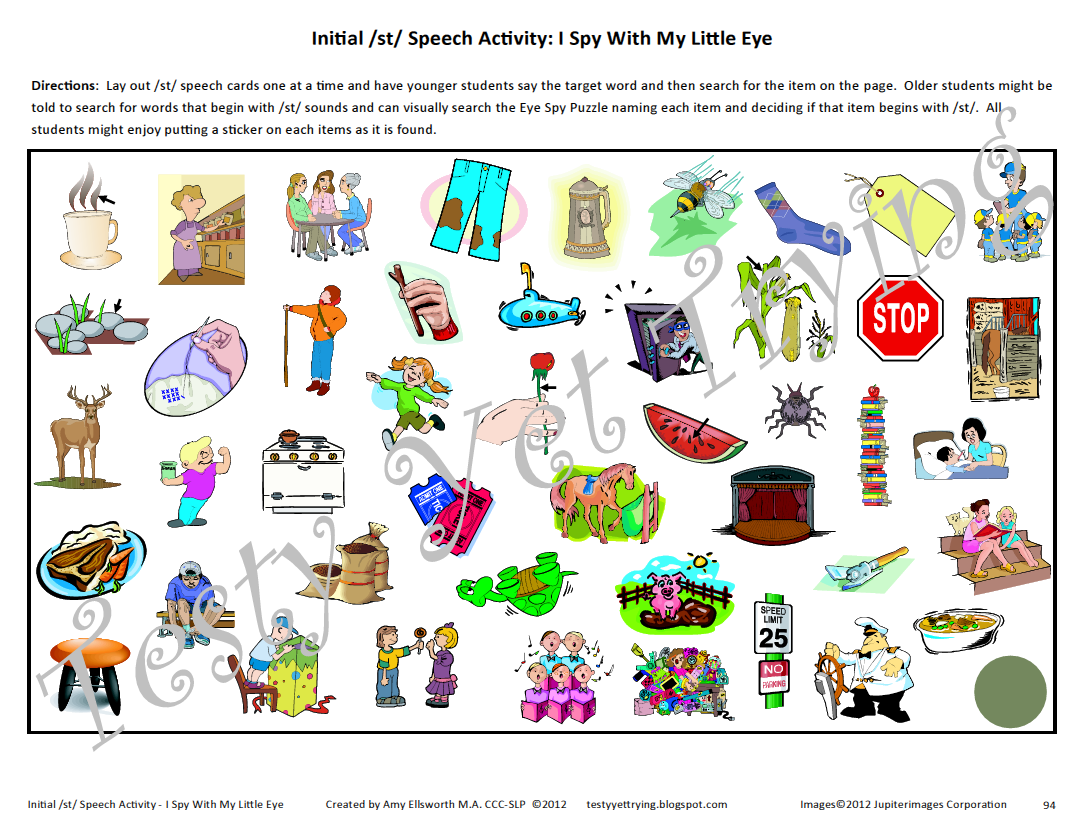 Phonological Processes Chart – S Articulation Worksheets