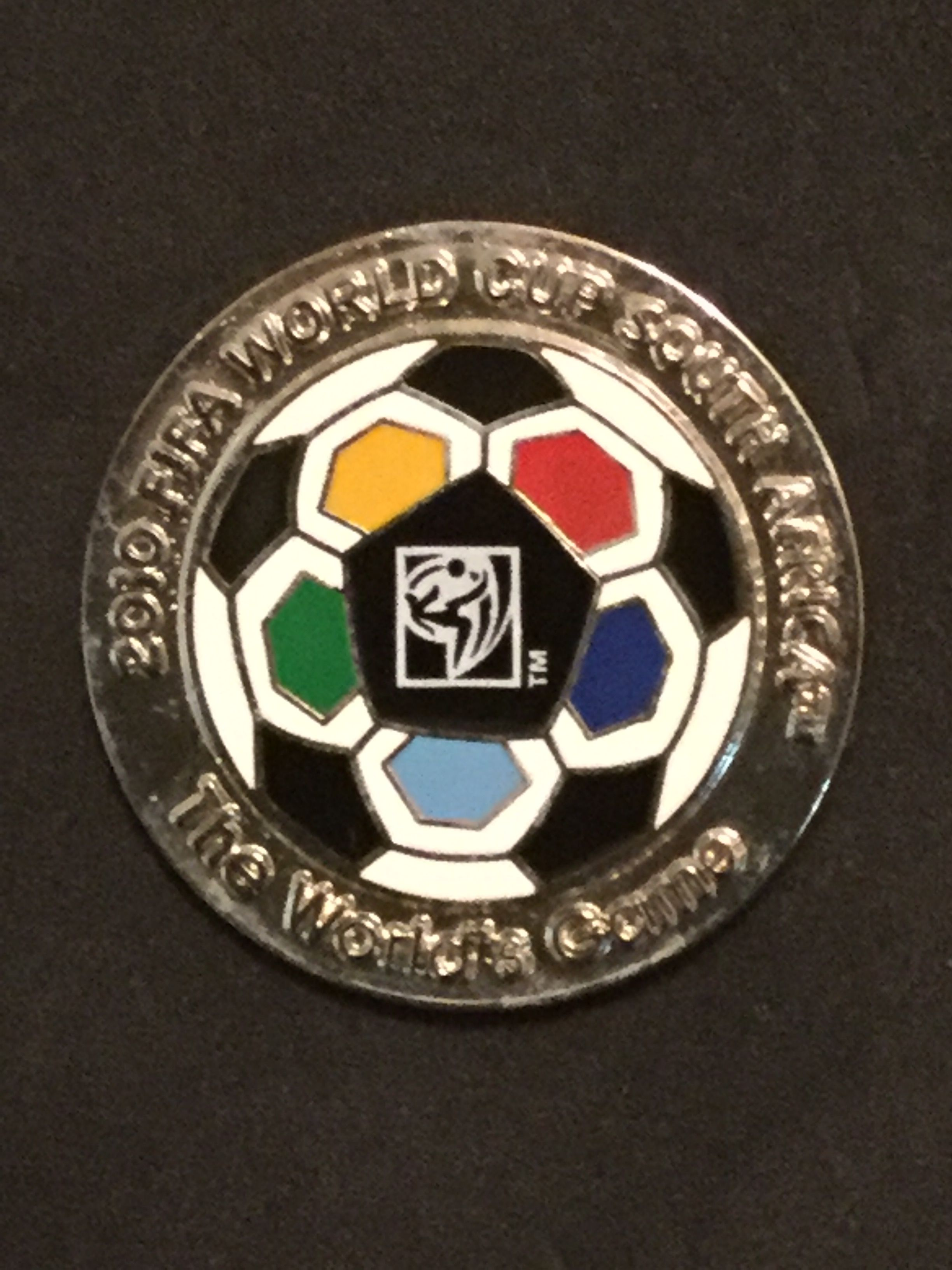 South Africa World Cup Logo with Soccer Ball Pin Cup