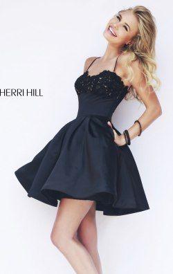 Pleated Mini Dress by Sherri Hill 32099