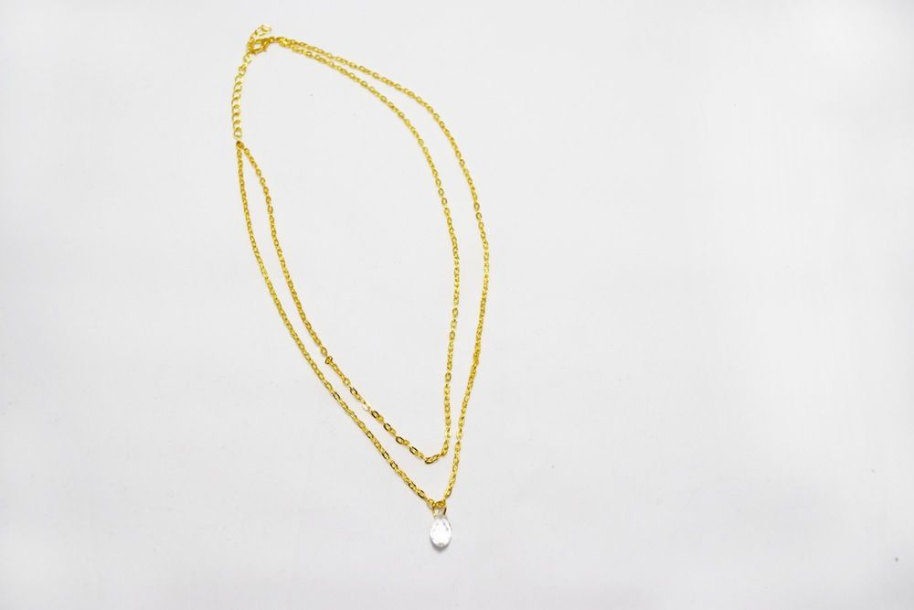 Gold Layered Waterdrop Necklace