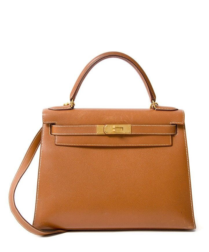 bb7fd81f2c22 Buy safe online secondhand designer vintage Hermes Kelly 29 cognac with ghw  online webshop labellov