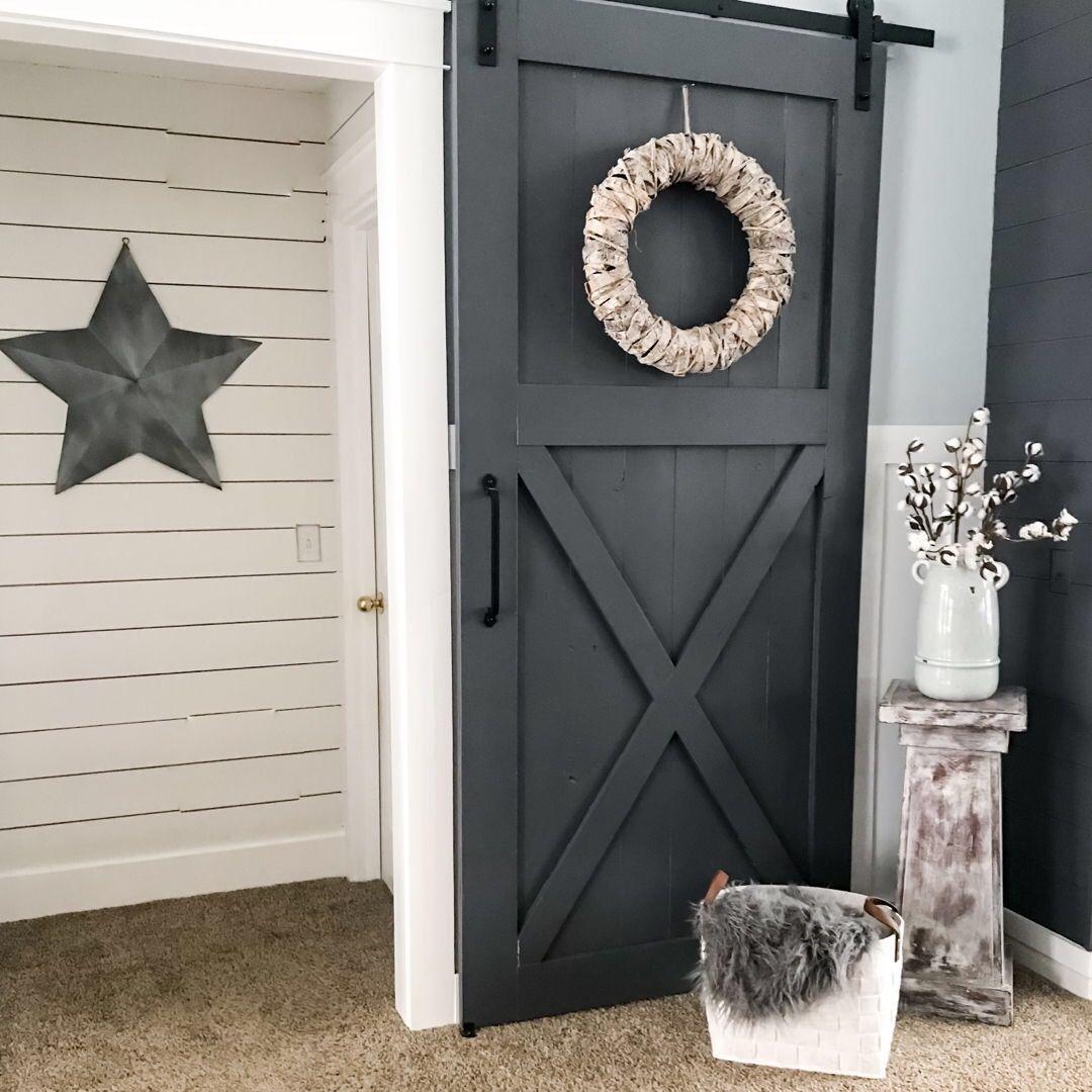 How to achieve the shiplap look barn door pinterest doors