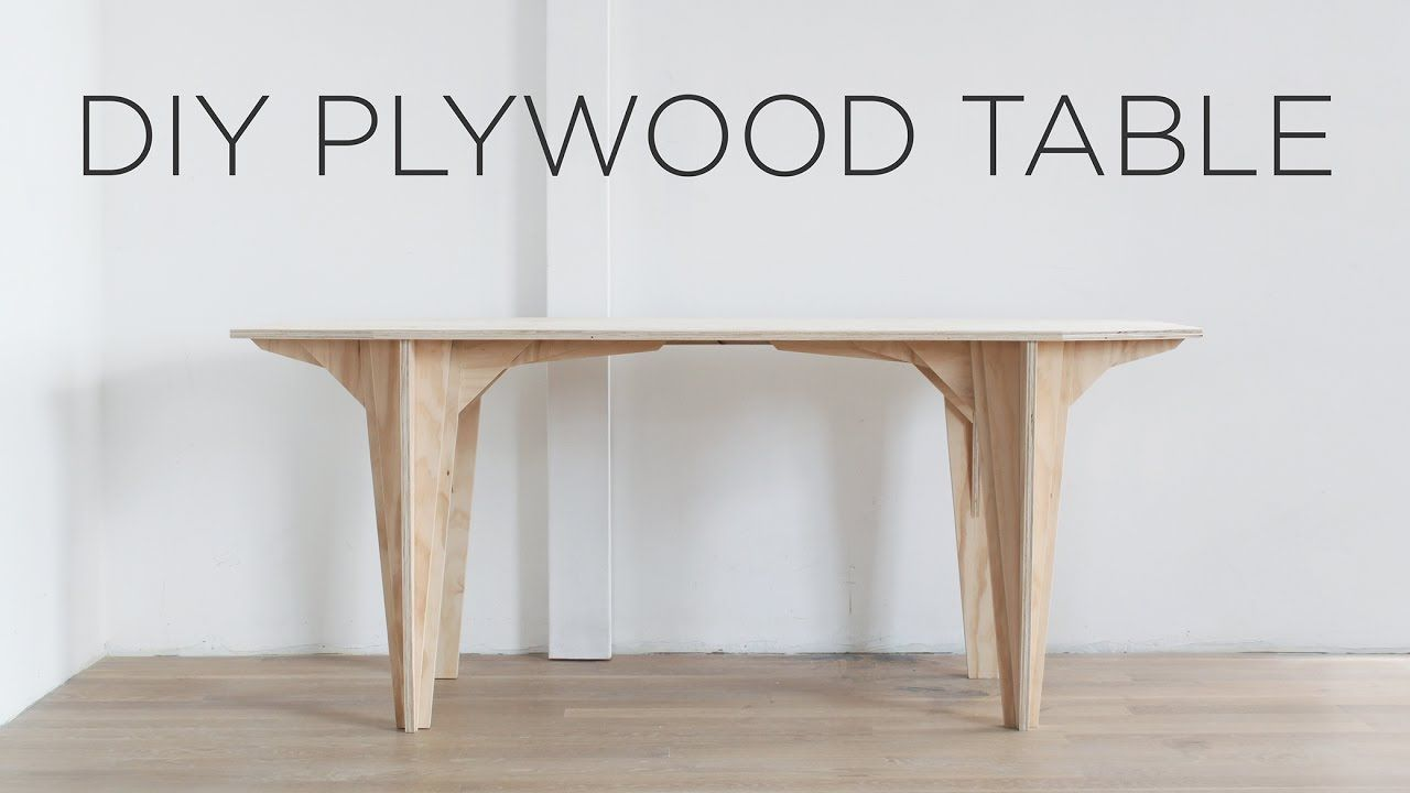 Diy Plywood Table Made From A Single Sheet Of Plywood Plywood Table Plywood Coffee Table Furniture Design Table