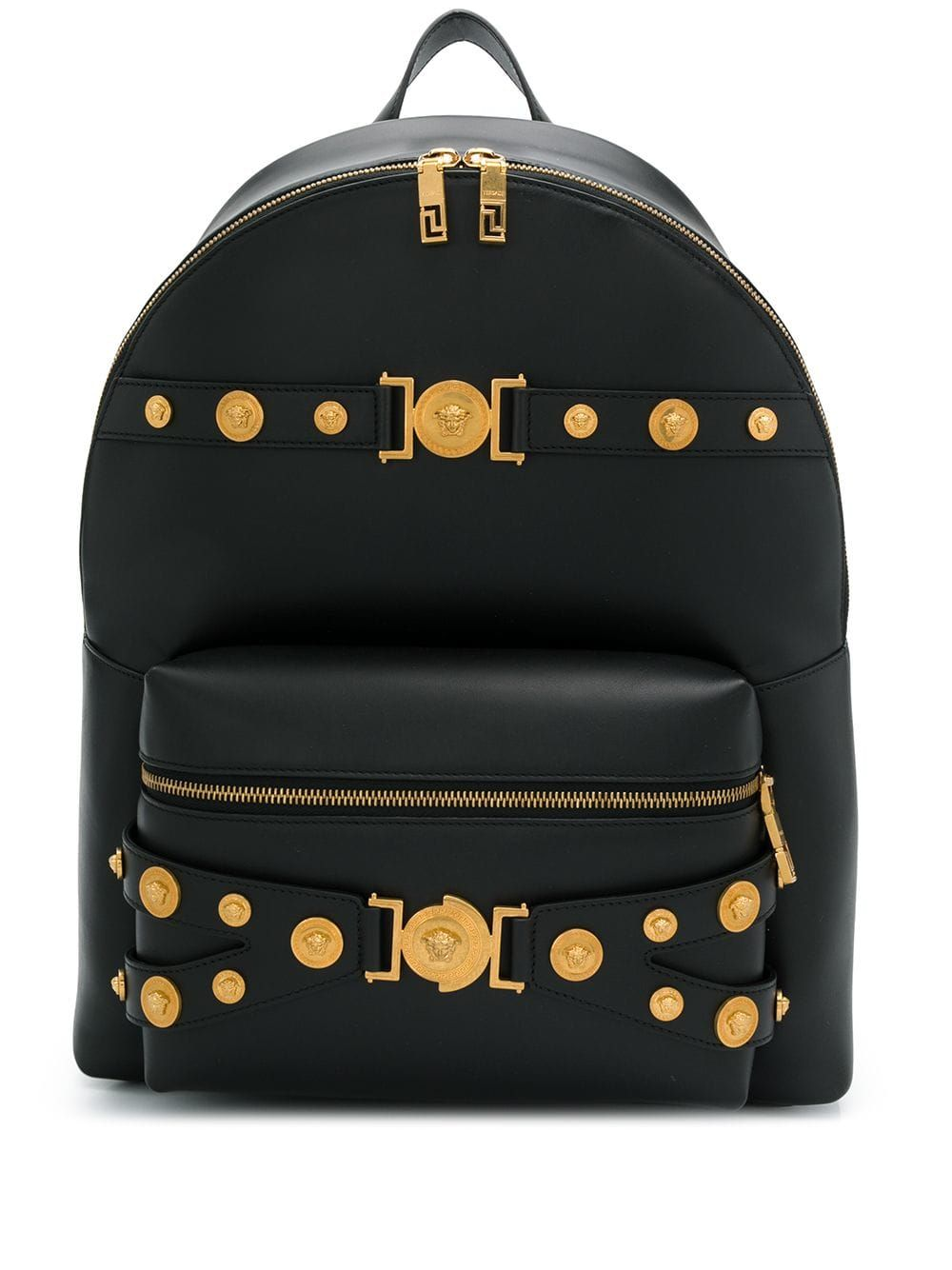 Tribute leather backpack in black stylish handbag