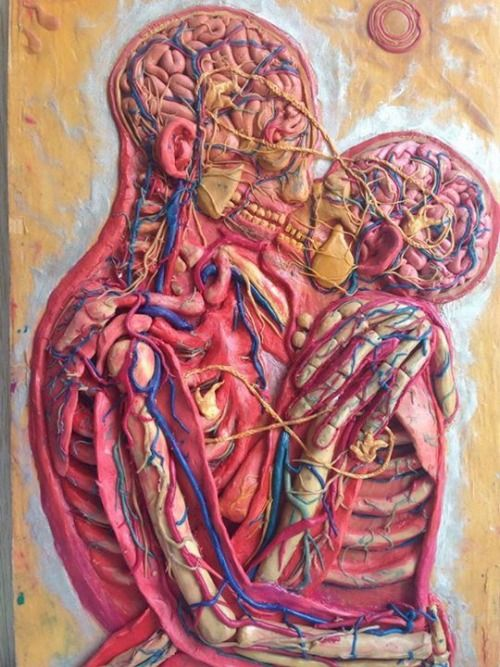 "Arte anatómico ""Kissing"" de Alex Grey | San Valentín | Pinterest"