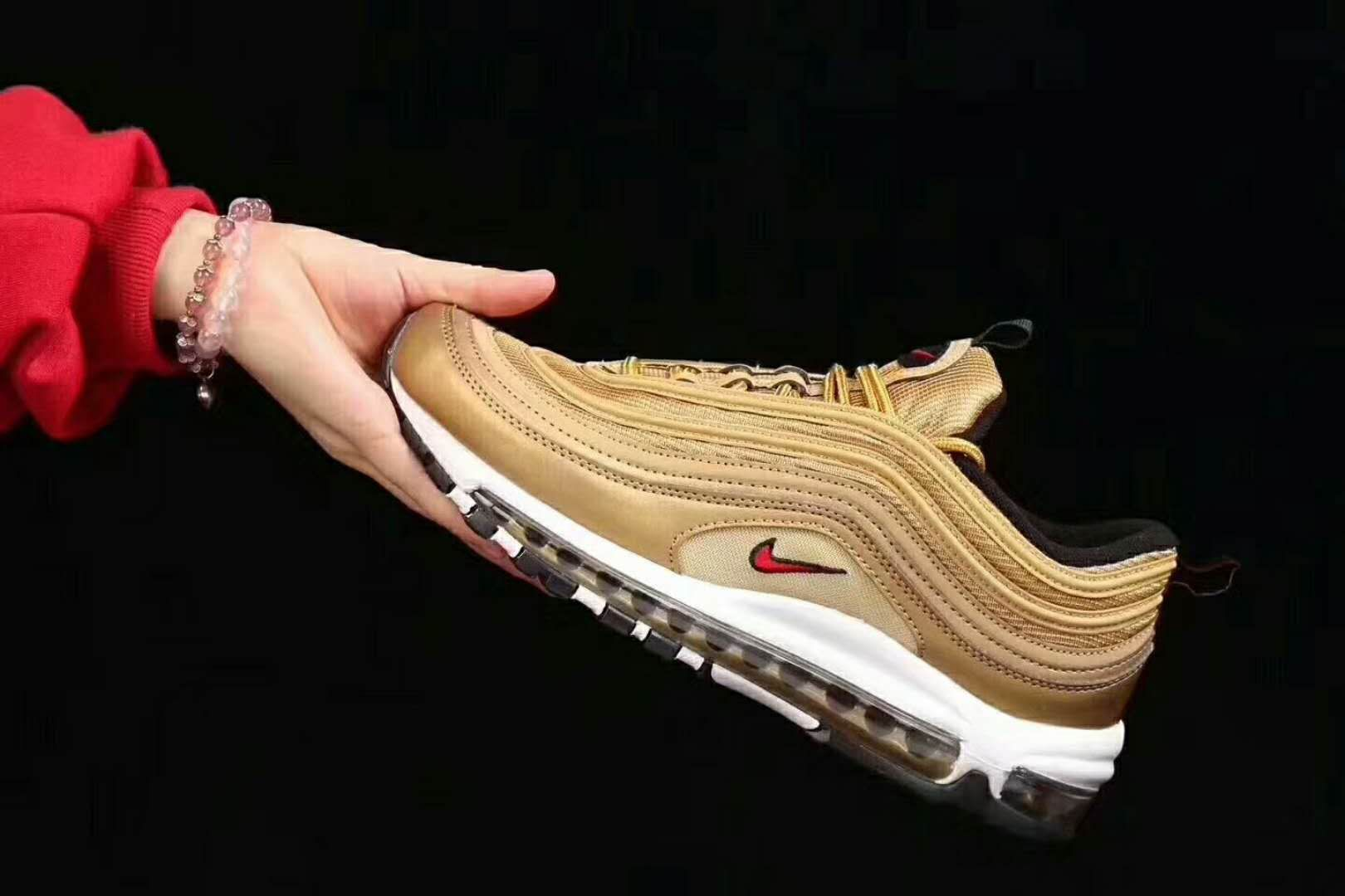 Nike Air Max 97 Og Qs Metallic Gold 884421 700 Gold Bullet Air Max Nike Air Max Nike