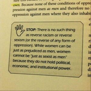 Reverse oppression does not exist.
