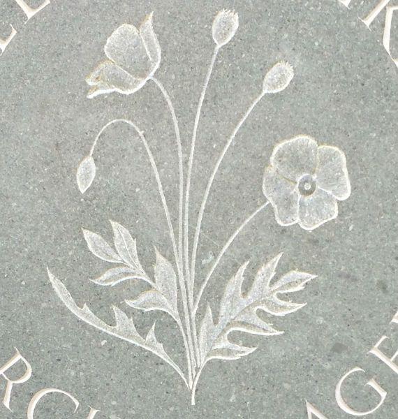 Poppy gravestone symbol headstone pinterest symbols