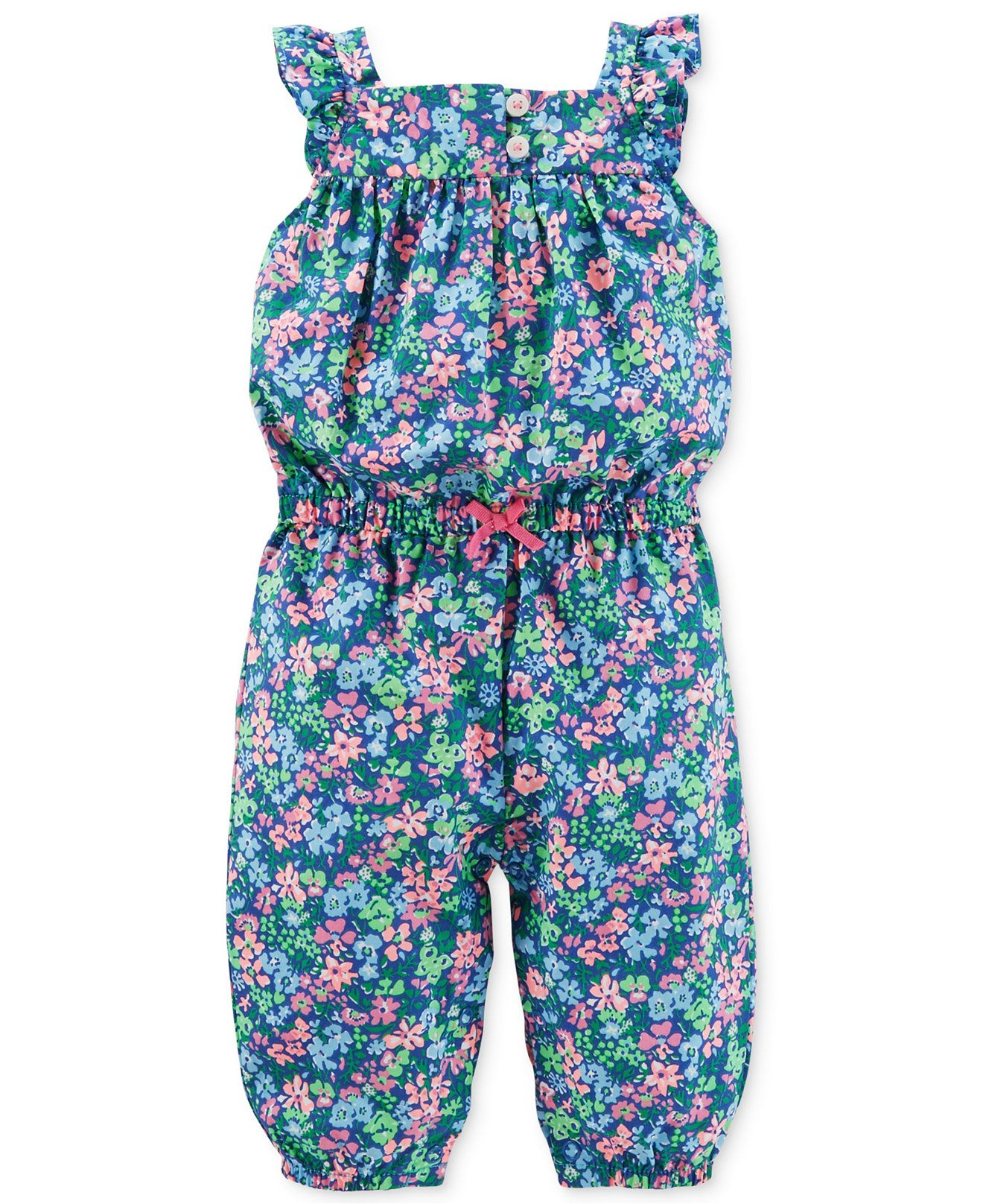 5611c81be865 Carter s Baby Girls  Floral Jumpsuit - Kids - Macy s
